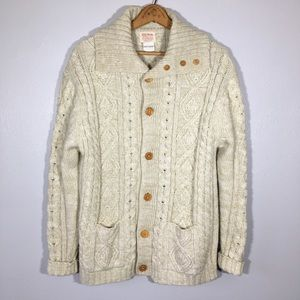 Vintage Fisherman's Sweater Chunky Cable Knit Boho